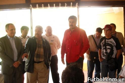 Nicolás Maduro visita la Selección Vinotinto