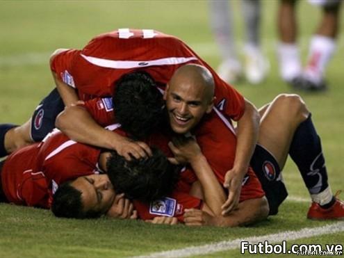 Celebración de gol chileno - Foto AFP
