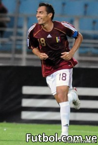 Juan Arango delantero de la selección Venezuela