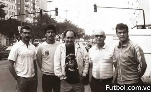Con Richard Páez y Cristóbal Guerra. Foto: PedroFebles.com