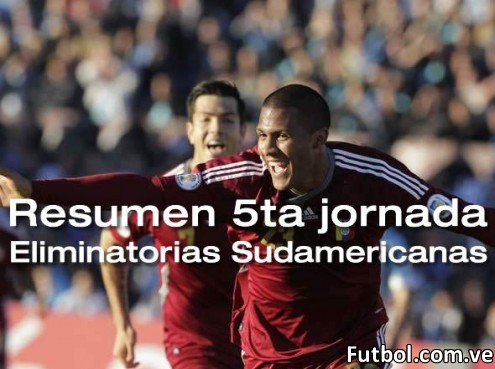 Salomón Rondón festeja su gol ante Uruguay